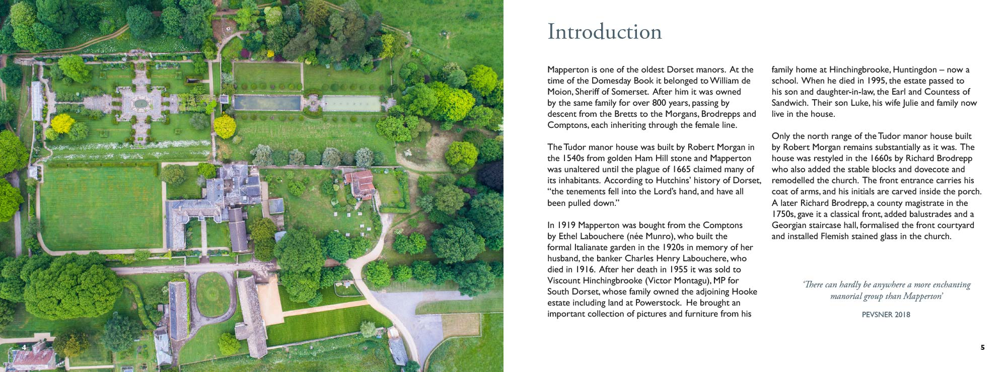 Mapperton Guidebook introduction spread