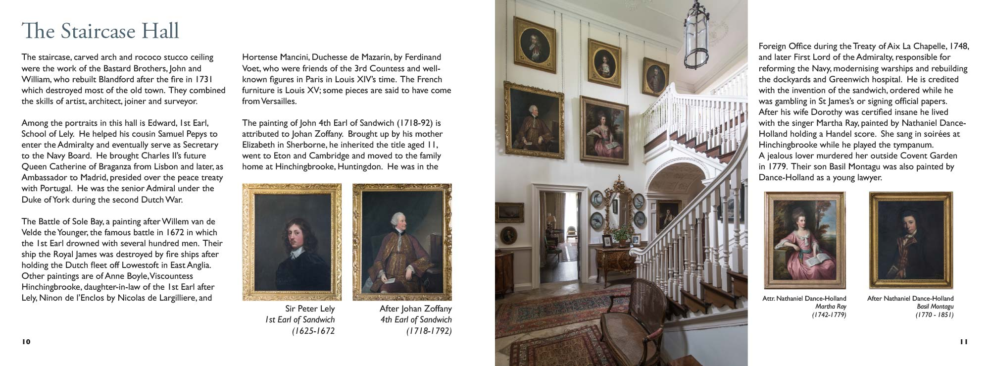 Mapperton Guidebook Staircase Hall spread