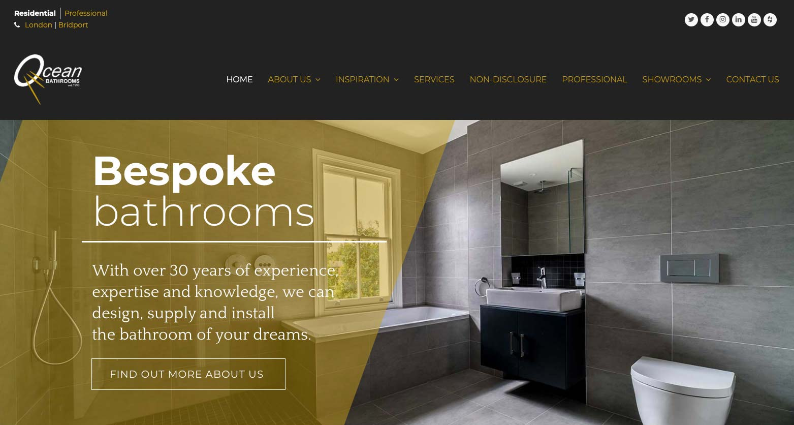 Ocean Bathrooms website home page