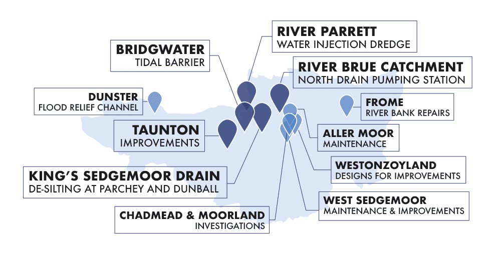Somerset Rivers Authority 2018-19 Annual Report infographic
