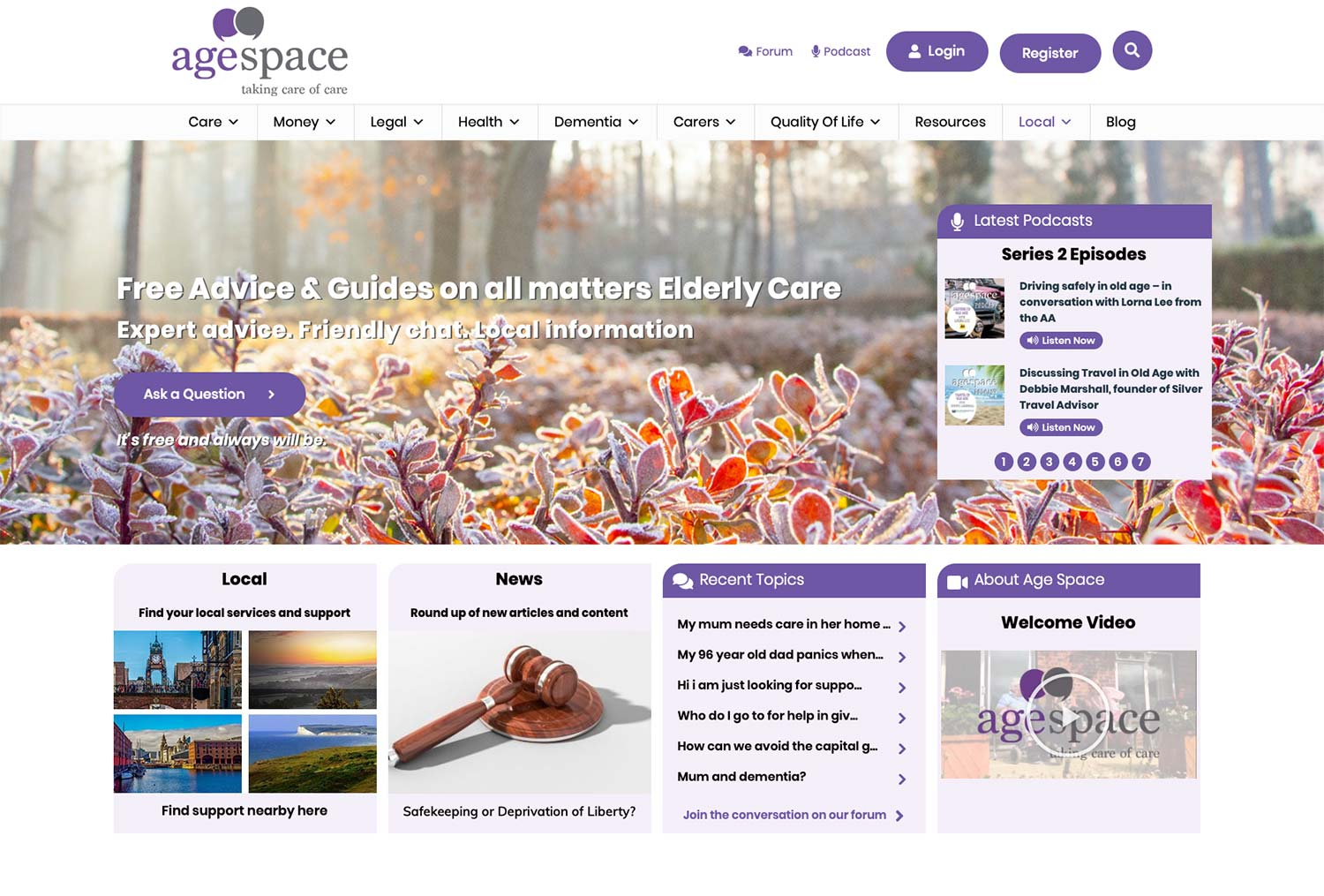 Age Space Website