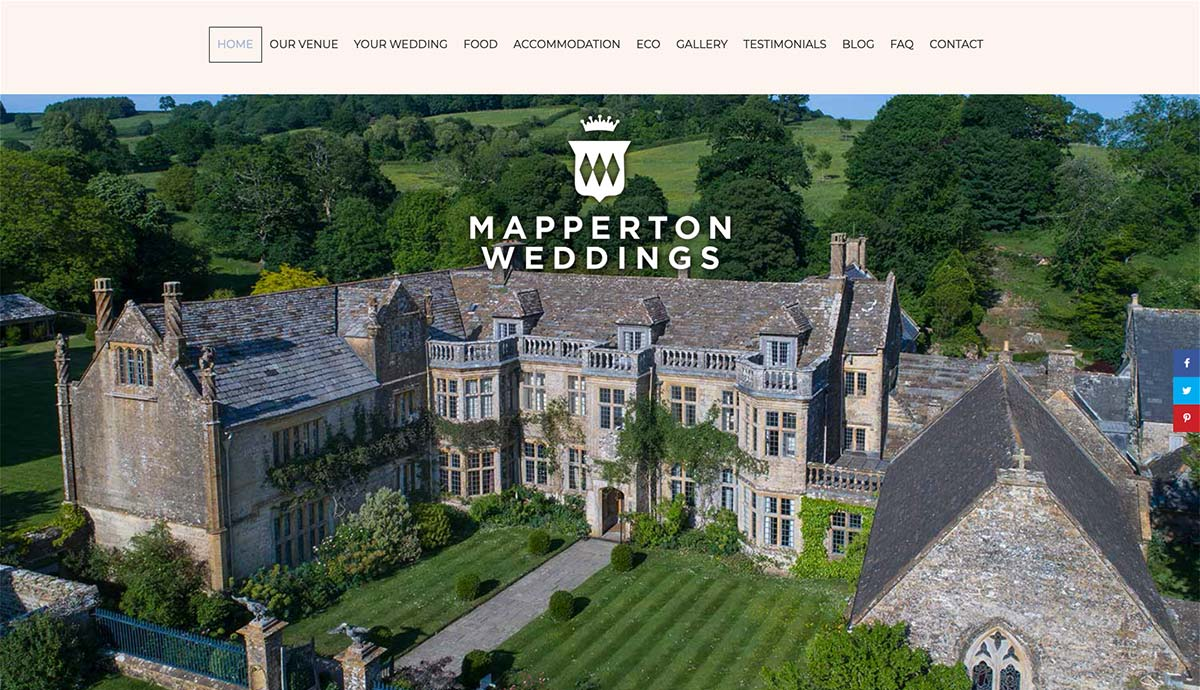 Mapperton Weddings Website