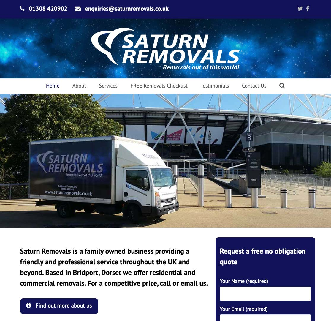Saturn Removals website
